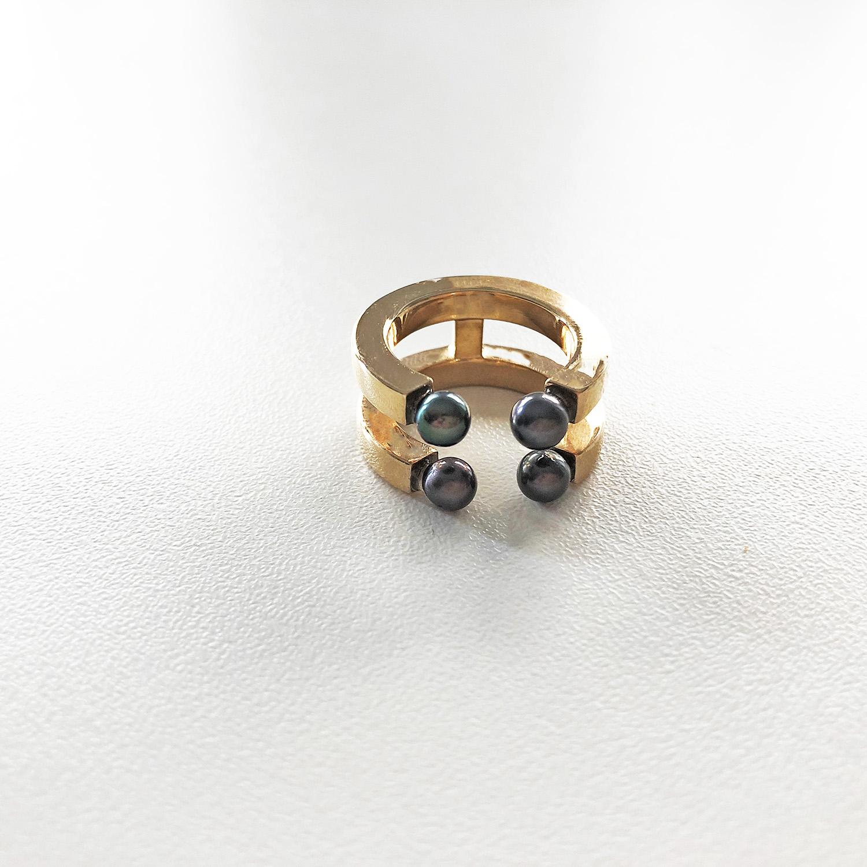 KristinaC - Anello aperto 4 perle Iris