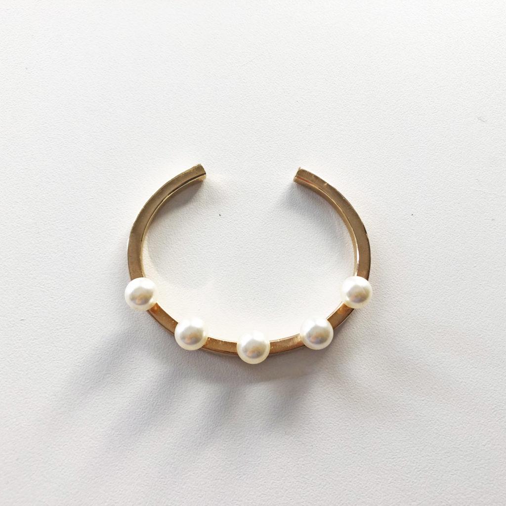KristinaC - Bracciale argento oro 5 perle