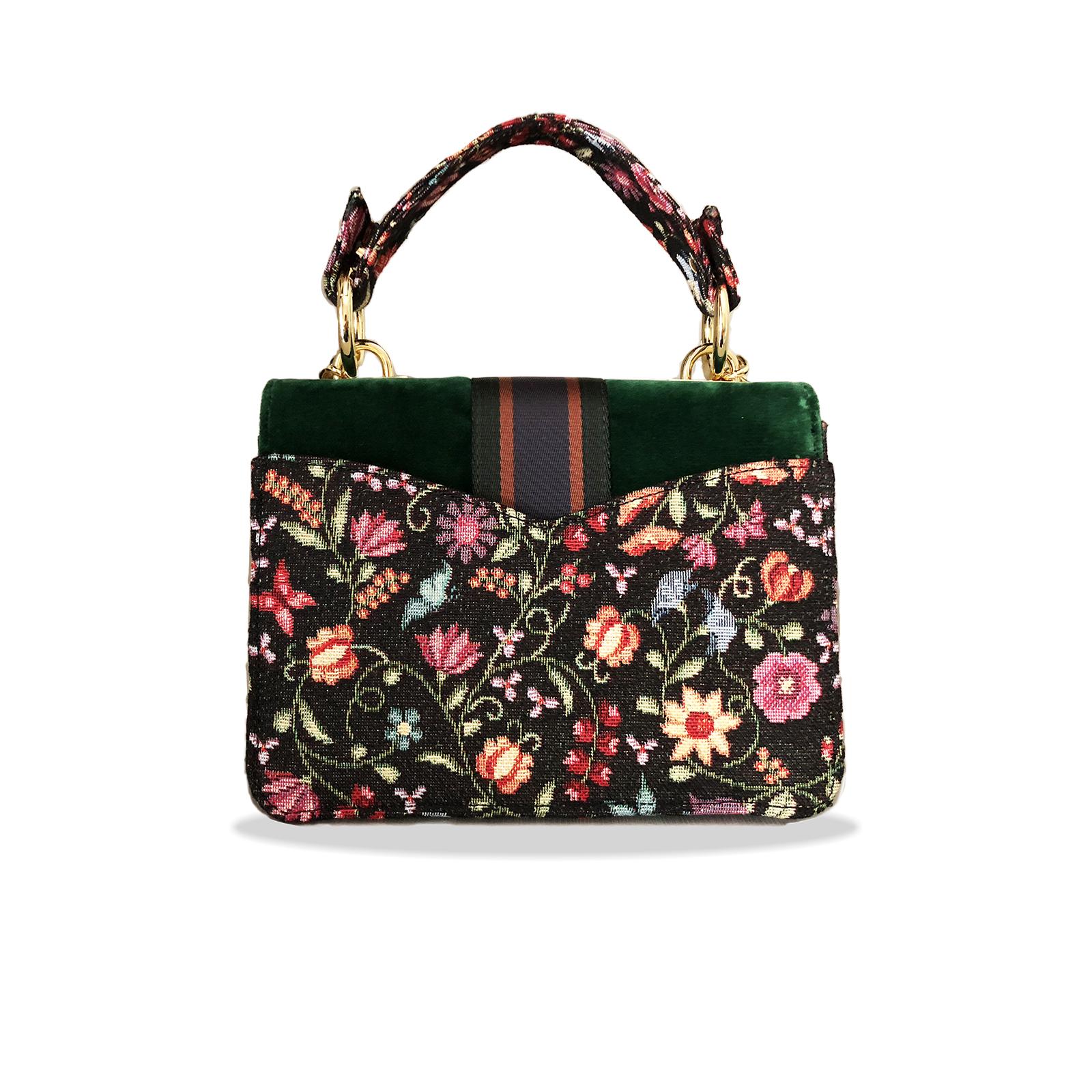 KristinaC - Cahier Pop Flower Green Velvet