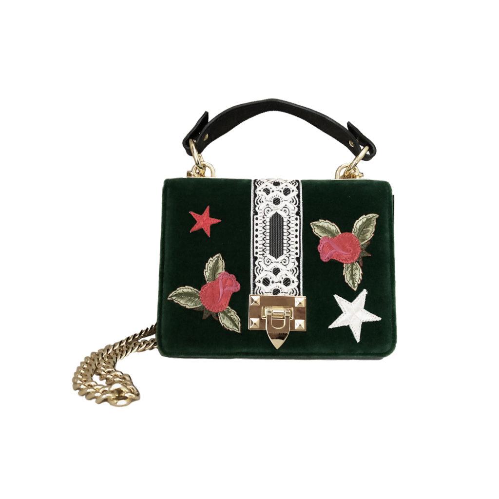 KristinaC - Cahier Romantic Roses Green Velvet